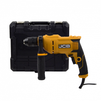 JCB Impact Drill side elevation with case