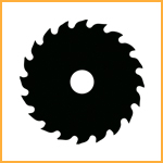 JCB Website Icon Circular Saw Blade