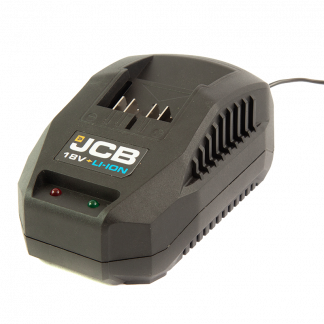 JCB 18v Fast Charger angled elevation