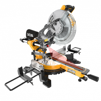 254mm Sliding Bevel Mitre Saw angled view